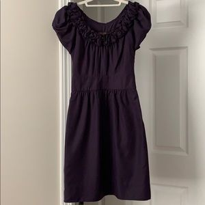 Size 0 purple dress with roses on collar
